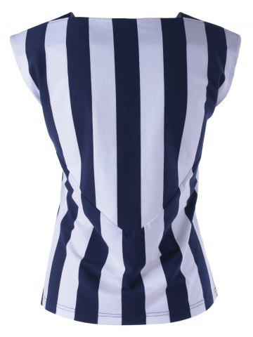 Outfit Striped Contrast Tank Top - M STRIPE Mobile