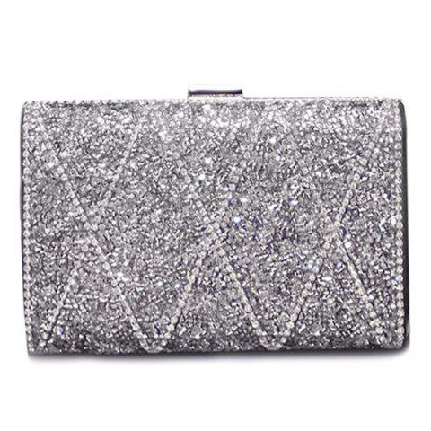 Outfit Stylish Rhinestone and Checked Design Evening Bag For Women