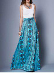 Stylish Scoop Neck Tank Top + Printed Skirt Women's Twinset -