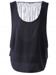 Chic Hollow Out Tassel Top For Women -