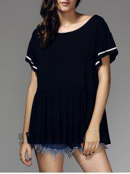 Stylish Short Sleeve Scoop Neck Women's T-Shirt -