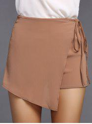 Stylish Asymmetric Tie Shorts For Women -