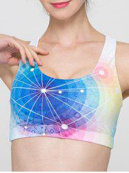 Full Coverage Colorful Hollow Out Criss Sport Bra -