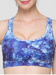 Full Coverage Print Hollow Out Criss Sport Bra