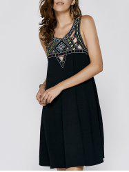 Vintage Sleeveless Hollow Out Rhinestone Design Women's Cami Dress