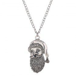 Vintage Father Christmas Necklace