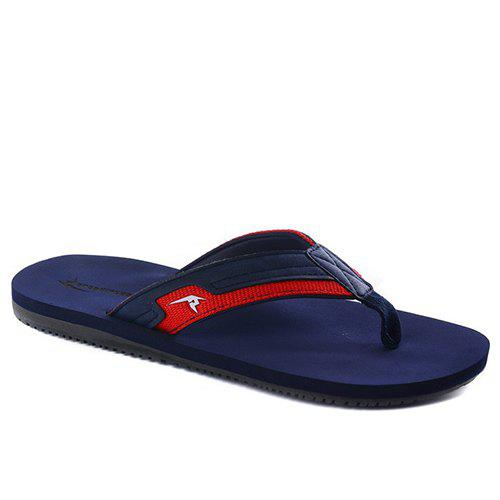 Outfits Concise Splicing and Hit Colour Design Slippers For Men