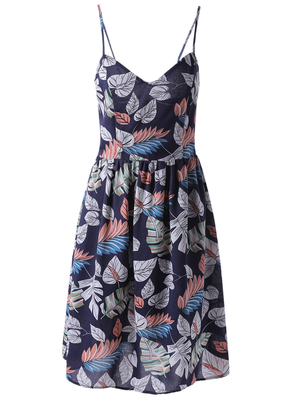 Fashionable Printed Spaghetti Straps Dress For Women DRESSFO