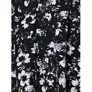 Fashionable Sleeveless Floral Print Cut Out Slimming Women's Dress -