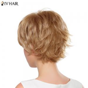 Fluffy Straight Capless Siv Hair Vogue Side Bang Short Human Hair Wig For Women -