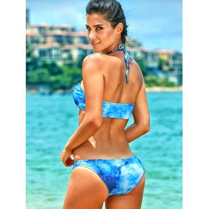 High-Neck Tie Dye Bathing Suit -