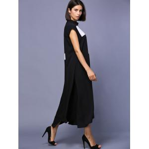Stylish Short Sleeve High Low Loose-Fitting Women's Midi Dress -