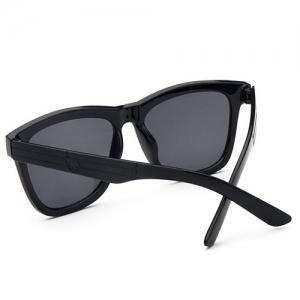 Hipsters Star Quadrate UV Protection Polarized Sunglasses - BLACK