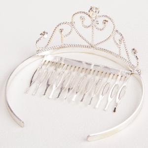 Gorgeous Rhinestone Heart Crown For Women -