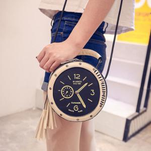 Chic Clock Shape and Tassel Design Crossbody Bag For Women -