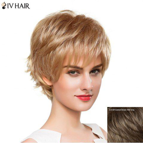 Shops Fluffy Straight Capless Siv Hair Vogue Side Bang Short Human Hair Wig For Women