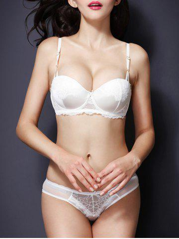 Online Fashionable Push Up Spaghetti Strap Lace Bra Set For Women
