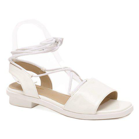 Trendy Concise PU Leather and White Colour Design Sandals For Women