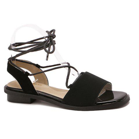 Hot Simple Style Lacing and Suede Design Sandals For Women