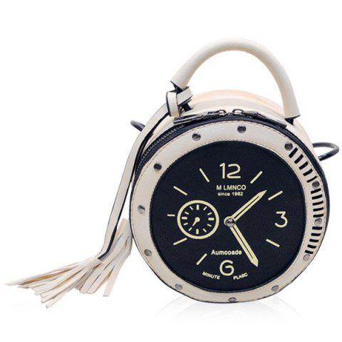 Shop Chic Clock Shape and Tassel Design Crossbody Bag For Women