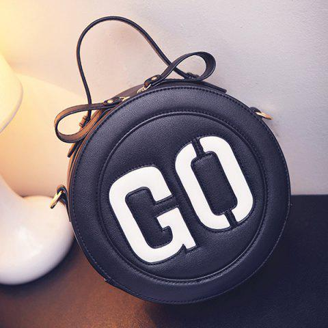 Outfits Sweet Letter Pattern and Colour Block Design Crossbody Bag For Women - BLACK  Mobile