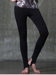 Active Style Elastic Waist Solid Color Yoga Pants For Women -