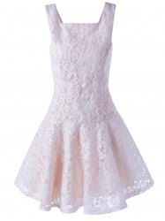 Sleeveless Lace A-Line Cocktail Party Dress
