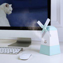 Mini USB Mist Diffuser Windmill Shape Fan Anion Humidifier For Office Home -