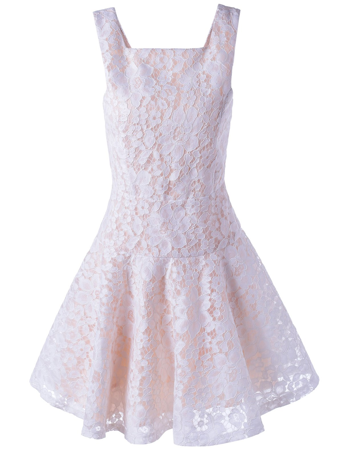 Chic Sleeveless Lace Short Skater Cocktail Party Dress