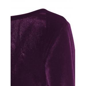 Robe de gaine sans dos en velours -