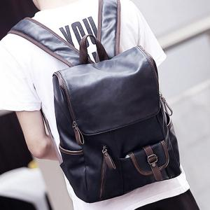Fashion Zippers and Hit Colour Design Backpack For Men