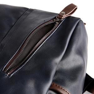 Fashion Zippers and Hit Colour Design Backpack For Men - DEEP BLUE