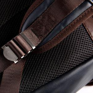 Fashion Zippers and Hit Colour Design Backpack For Men - BLACK