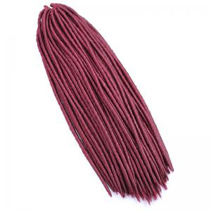 Fashion Heat Resistant Fiber Handmade Soft Dreadlock Braids Hair Extension For Women - Wine Red