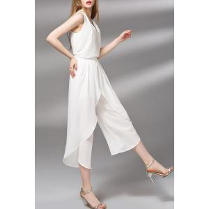V-Neck Tank Top and Pure Color Wide Leg Pants Twinset -