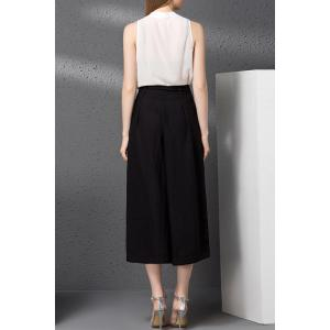 V-Neck Tank Top and Bowknot Waist Wide Leg Pants Twinset -