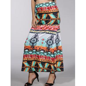 Bohemian Mid-Waist Mystery Painting Maxi Skirt For Women -