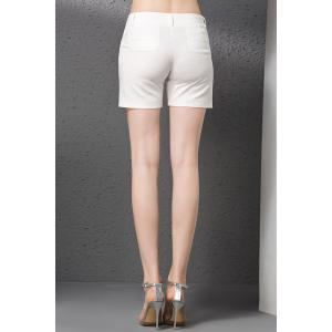 Zipper Fly Mid Rise Shorts -