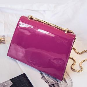 Chic Patent Leather and Hasp Design Crossbody Bag For Women -