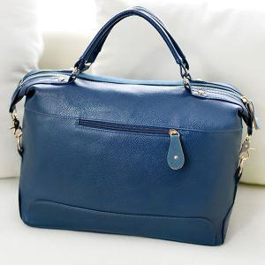 Street Style Splice and Buckles Design Women's Tote Bag - BLUE