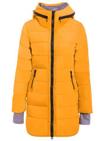 Casual Style Hooded Collar Solid Color Long Sleeve Women's Coat