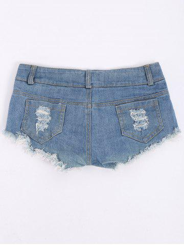 Sale Low-Waisted American Flag Denim Micro Shorts - S COLORMIX Mobile