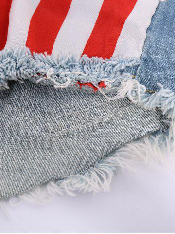 Outfits Low-Waisted American Flag Denim Micro Shorts - S COLORMIX Mobile