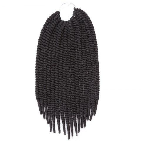 New Fashion Heat Resistant Fiber Senegal Twists Braids Hair Extension For Women JET BLACK