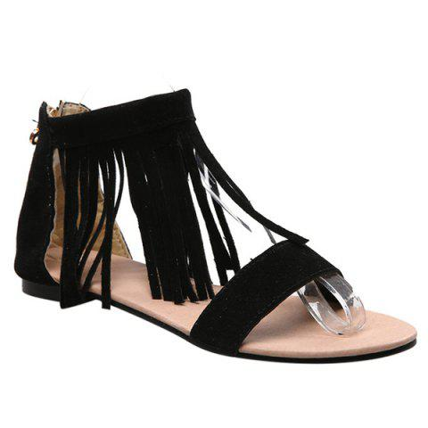 Latest Casual Suede and Fringe Design Sandals For Women