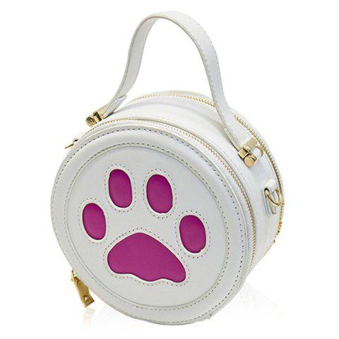 Fashion Cute Paw Print and Round Shape Design Tote Bag For Women