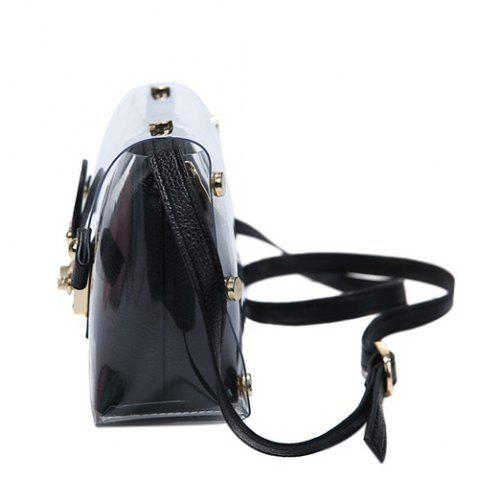 Buy Trendy Transparent and Hasp Design Crossbody Bag For Women - BLACK  Mobile