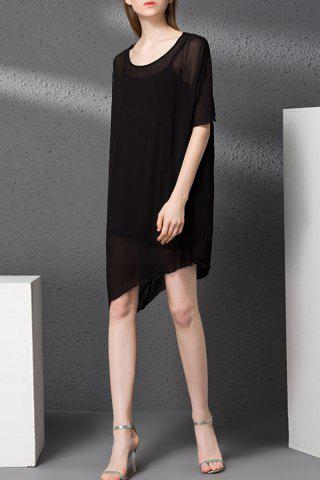 Trendy Camisole Dress and Asymmetrical Chiffon Dress Twinset
