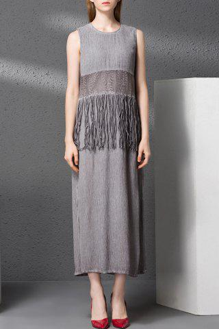 Shop Fringed Panel Maxi Dress
