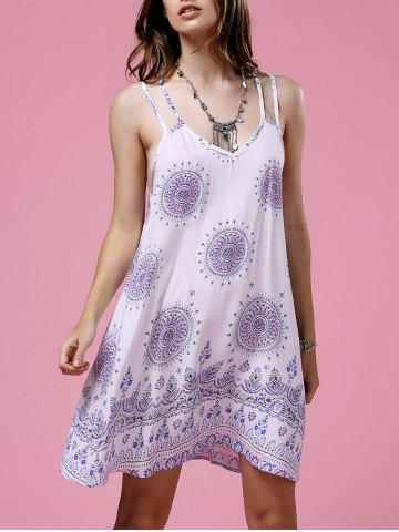 New Ethnic Print Open Back Strappy Casual Dress